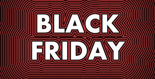 Black Friday sign vector illustration