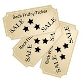 Black Friday Tickets for Christmas Shopping Season Stock Photo