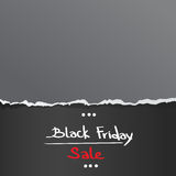 Black Friday Torn Curved Wrapped Paper Sale Red Stock Photo