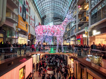 Black Friday. TORONTO - NOVEMBER 29: Shoppers visit the mall in Toronto, Canada on the Black Friday, November 29, 2013 Stock Photos
