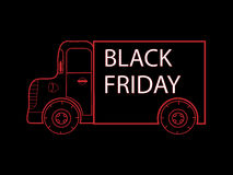 Black Friday truck goods closeout sale Royalty Free Stock Image