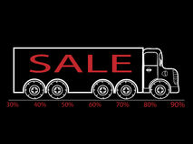 Black Friday truck sale discounts interest Stock Image