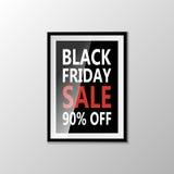 Black Friday type marketing template. Vector Royalty Free Stock Photos