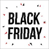 Black Friday typescript in glitch, distorted font Stock Photos