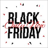 Black Friday typescript in glitch, distorted font Stock Images