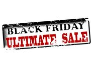 Black friday ultimate sale. Rubber stamp with text Black friday ultimate sale inside,  illustration Royalty Free Stock Photography