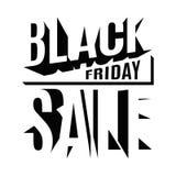 Black Friday-vakantie 3d van letters voorziende banner Stock Foto
