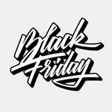 Black Friday-Van letters voorziend het Kentekenmalplaatje van de Verkoopkalligrafie royalty-vrije illustratie