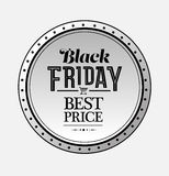 Black friday vector on badge Stock Images