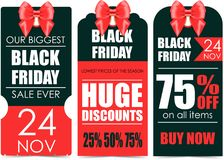 Black Friday. Vector banners for black friday day Royalty Free Stock Photography