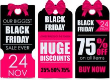 Black Friday. Vector banners for black friday day Stock Images