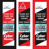 Black friday. Vector illustration. For flyers invitation posters brochure banners Royalty Free Stock Photos
