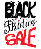 Black Friday. Vector illustration. Typography poster Royalty Free Stock Photo