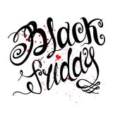 Black Friday. Vector illustration. Typography poster Royalty Free Stock Images