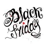 Black Friday. Vector illustration. Typography poster Royalty Free Illustration