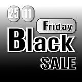 Black Friday. Vector image with inscription black friday. Royalty Free Stock Image