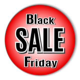 Black Friday. Vector image with inscription black friday. Royalty Free Stock Photo