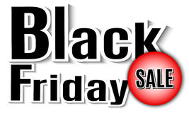 Black Friday. Vector image with inscription black friday. Royalty Free Stock Images