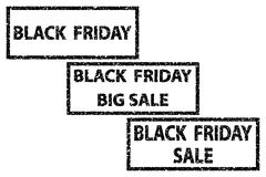 Black Friday - vector stamp. Black Friday - sale - big sale - vector stamp Royalty Free Stock Images