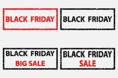 Black Friday - vector stamp. Black Friday - sale - big sale - vector stamp Stock Image