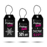 Black Friday vector tags Stock Photo