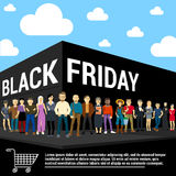Black Friday Vector Template Royalty Free Stock Photos