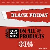 Black Friday, venta grande, plantilla creativa en diseño plano Fotos de archivo libres de regalías