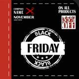 Black Friday, venta grande, plantilla creativa en diseño plano Foto de archivo