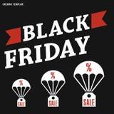 Black Friday, venta grande, plantilla creativa en diseño plano Fotos de archivo