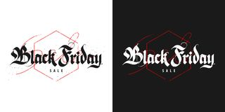Black Friday-Verkauf, gotische Beschriftung Stockfotografie