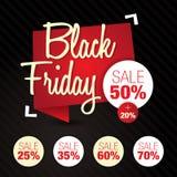 Black Friday-Verkauf, Rabatt, weg von 50%, 25%, 35%, 60%, 70% Lizenzfreie Stockfotografie