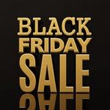 Black Friday-Verkaufs-Goldaufschrift-Fahne Lizenzfreie Stockbilder