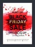 Black Friday-Verkaufs-Plakat, Fahne oder Flieger Stockfotos