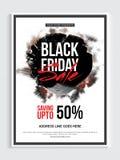 Black Friday-Verkaufs-Plakat, Fahne oder Flieger Stockfotografie