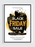 Black Friday-Verkaufs-Plakat, Fahne oder Flieger Lizenzfreie Stockfotos