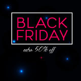 Black Friday-Verkaufs-Plakatdesign Stockfoto