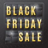 Black Friday-Verkaufs-Stahl Flip Calendar Lizenzfreies Stockbild