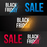 Black Friday-Verkaufs-Vektor Exlosions-Fahnen-Schablone Enormer November stock abbildung