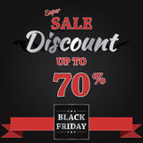 Black Friday-Verkaufs-Vektor-Fahnen-Design Lizenzfreies Stockfoto