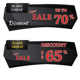 Black Friday-Verkaufs-Vektor-Fahnen-Design Stockfoto