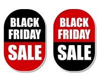 Black Friday-Verkaufsaufkleber Stockfotos