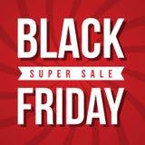 Black Friday-Verkaufsaufschrift-Designschablone Stockfoto