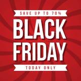 Black Friday-Verkaufsaufschrift-Designschablone Lizenzfreies Stockfoto
