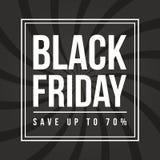 Black Friday-Verkaufsaufschrift-Designschablone Stockfotografie