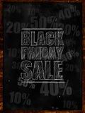Black Friday-Verkaufstext auf Tafel vektor abbildung