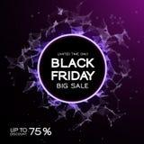 Black Friday-Verkaufszusammenfassungshintergrund Futuristische Technologieart Große Daten Design mit dem Plexus lizenzfreie abbildung