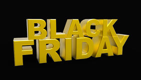 Black Friday-Verkoop 3D Illustratie Stock Illustratie