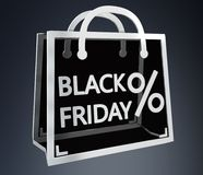 Black Friday-verkoop het digitale pictogrammen 3D teruggeven Stock Fotografie