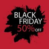 Black Friday-Verkoop het met de hand gemaakte van letters voorzien, kalligrafie met filmkorrel, lawaai, dotwork, grunge textuur e royalty-vrije illustratie