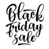 Black Friday-Verkoop het van letters voorzien Vector illustratie Stock Fotografie